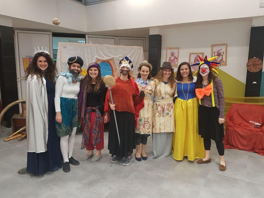בנות גרעין רוח אביב רמת אביב ג' בפורים