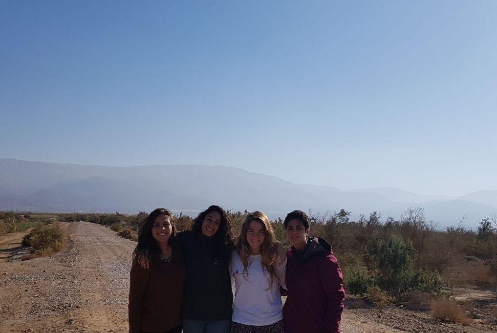 בנות השירות של רשות הטבע והגנים בטיול בנגב